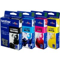 Original Brother LC-38 Cyan Ink Cartridge
